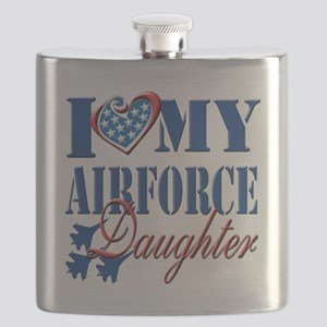 I Love My Airforce Daughter Flask