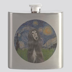 R-Starry-Afghan-blk-cream Flask