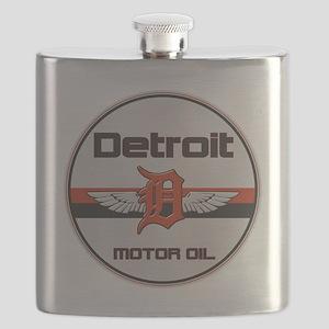 Detroit Motor Oil copy Flask