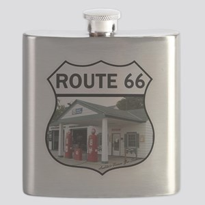 Route 66 - Amblers Texaco Gas Station - Dwig Flask