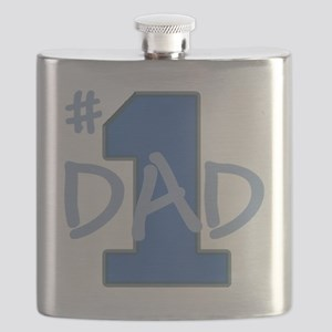 # 1 Dad blue gray Flask