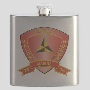 USMC - HQ Bn - 3rd Marine Division Flask