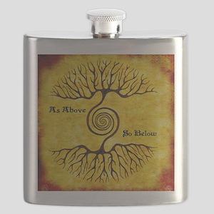 As Above So Below Color Print Flask