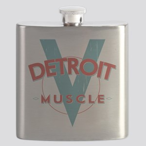 Detroit Muscle red n blue Flask