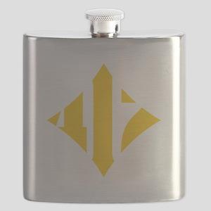 412 White/Gold-W Flask