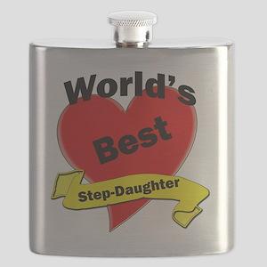 Worlds Best Step-Daughter Flask