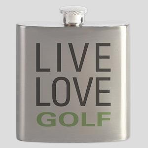 Live Love Golf Flask