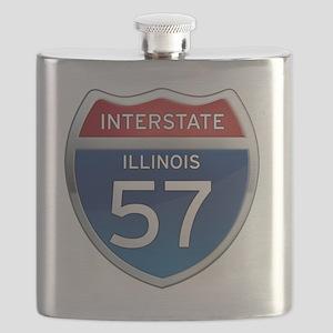 Interstate 57 - Illinois Flask