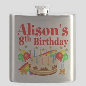 HAPPY 8TH Flask