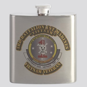 SSI - 3rd Battalion - 1st Marines USMC VN Flask