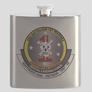 SSI - 3rd Battalion - 1st Marines USMC Flask
