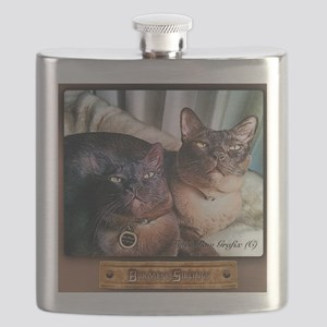 Burmese cat siblings, 2 Flask