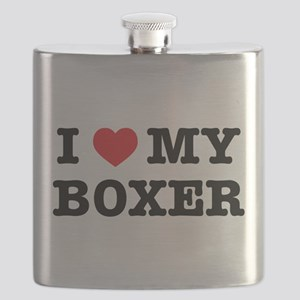 I Heart My Boxer Flask