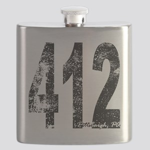 Pittsburgh Area Code 412 Flask