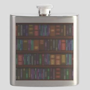 Old Bookshelves Flask