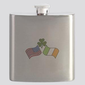 American Irish Flag Flask