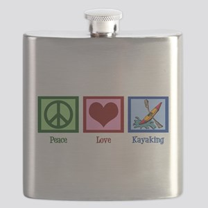 Peace Love Kayaking Flask