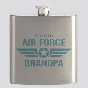 Proud Air Force Grandpa W Flask