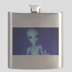 The Blue Alien Flask