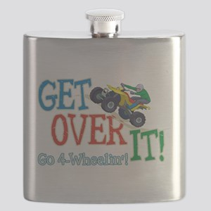Get Over It - 4 Wheeling Flask