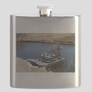 Florida swamp airboat 2 Flask