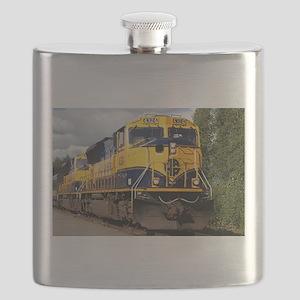 Alaska Railroad engine locomotive Flask