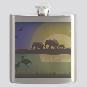 Animals African Landscape Flask