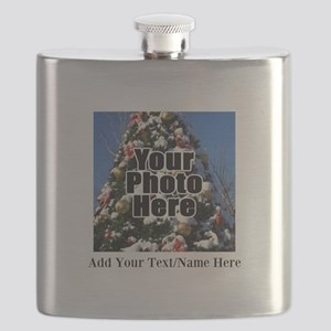Custom Personalized Color Photo and Text Flask