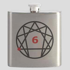 Enneagram 6 White Flask