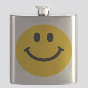 Yellow Smiley Face Flask