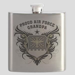 Proud Air Force Grandpa Flask