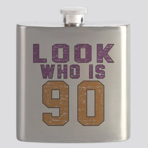 Look Who Is 90 Flask