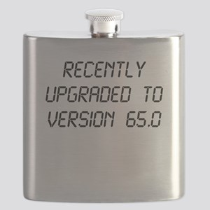Recently Upgraded Funny 65th Birthday Flask