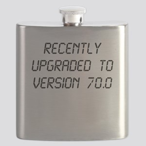 Recently Upgraded Funny 70th Birthday Flask