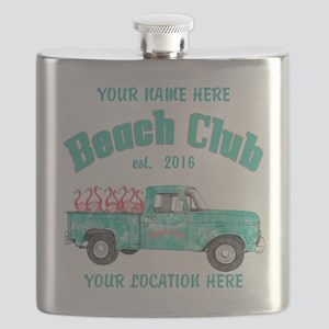 Flamingo Beach Club Flask