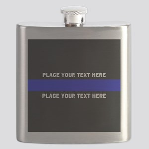 Thin Blue Line Customized Flask