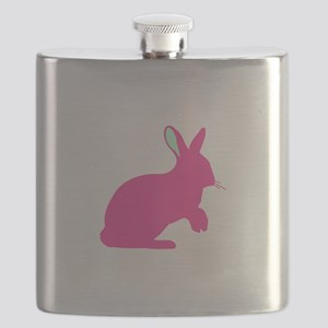 pink bunny silhouette Flask