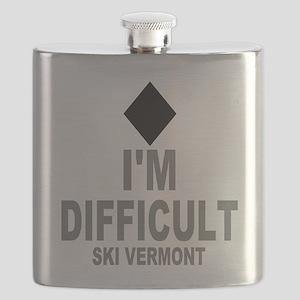 I'm Difficult ~ Ski Vermont Flask