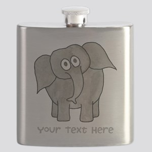 Elephant. Custom Text. Flask