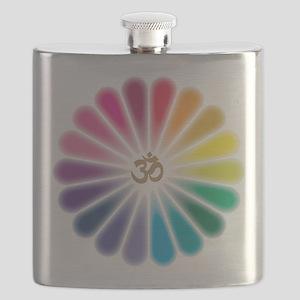 Om Rainbow Flower Flask
