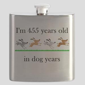 65 dog years birthday 1 Flask