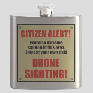 Citizen Alert! Drone Sighting! Flask