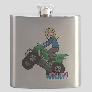 ATV Woman Blonde Flask