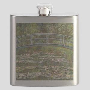 Monet Bridge over Water Lilies Flask
