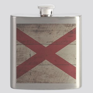 Wooden Alabama Flag3 Flask