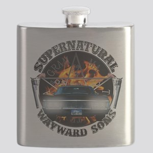 Supernatural Wayward Sons silver Flask