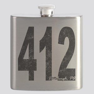 Distressed Pittsburgh 412 Flask