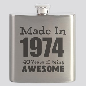 Custom Birthday Made in year and age Flask