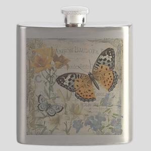 modern vintage butterfly Flask