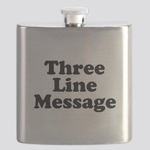 Big Three Line Message Flask